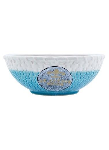Vitale Seramik Dekoratif Kase Mavi